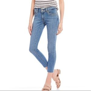 Levi's 711 Skinny Grommet Raw Hem Jeans